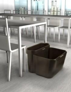 Poubelle de tri pour bureaux ou salles de réunion